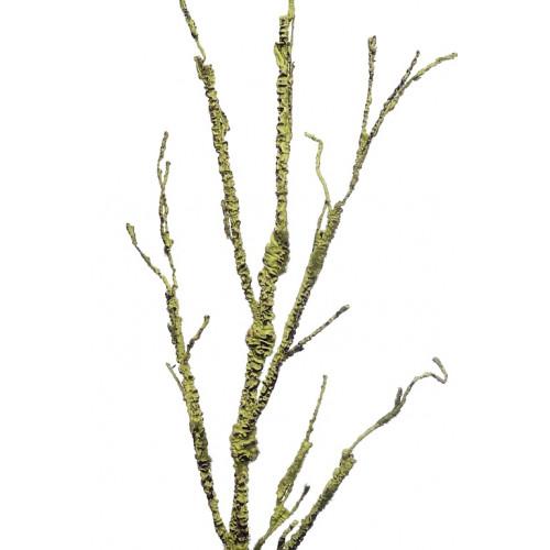 Gałąź plastyczna porośnięta mchem 110cm green
