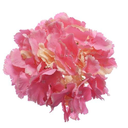 Hortensja główka 18cm pink lt yellow