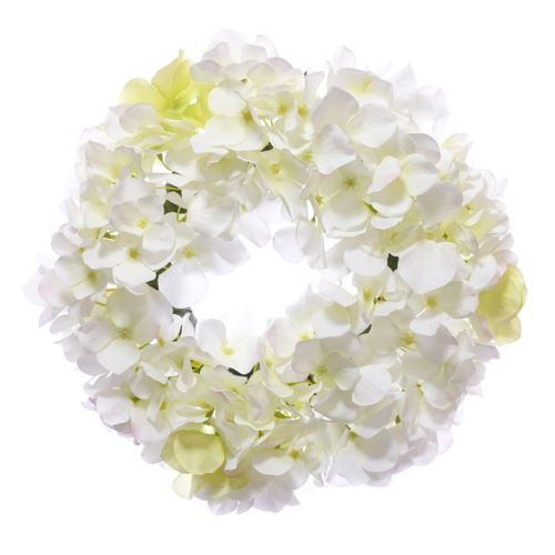 Wianek z hortensji 30cm biały