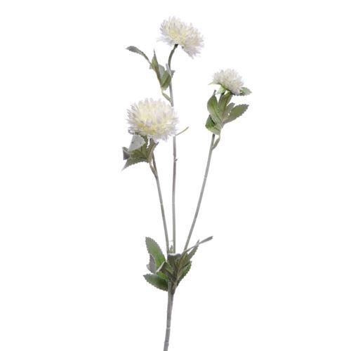 Galązka zielona z bialymi kwiatami 67cm