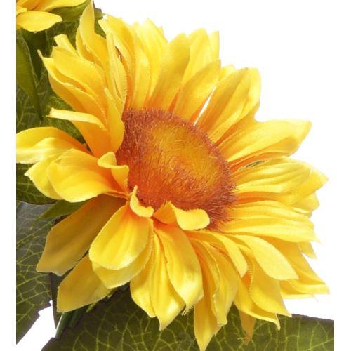 Gałązka słonecznika x3 35cm sun532 lt. yellow
