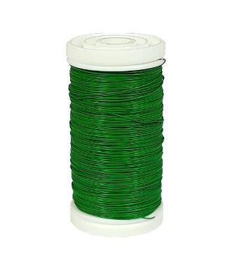 Drut matowy na szpulce 70g 0,30mm dk.green