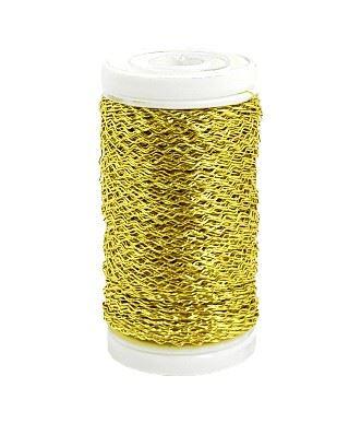 Drut dek. karbowany 50g 0,30mm gold