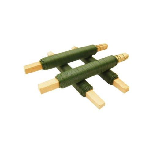 Drut wiązałkowy na patyku 100g. 0,7mm green