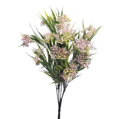 Bukiet chlorofitum mini pąki 35cm ERA1001 lt.pink