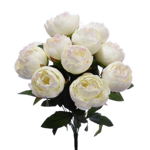 BUKIET PEONIA 12 KWIATÓW 45cm /ZY03 white lt pink
