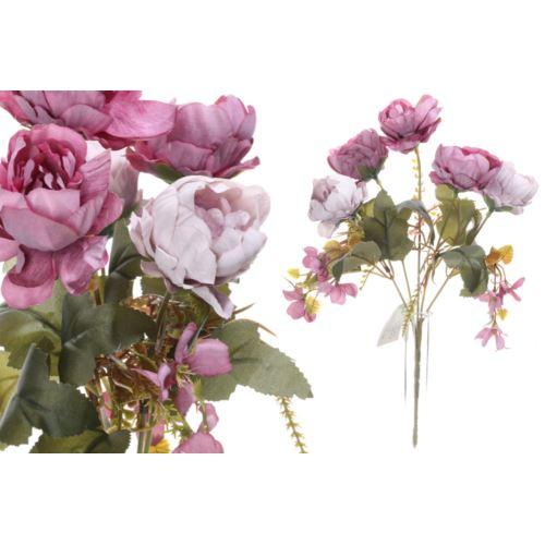 Bukiet drobnych peoni 28cm dirty violet