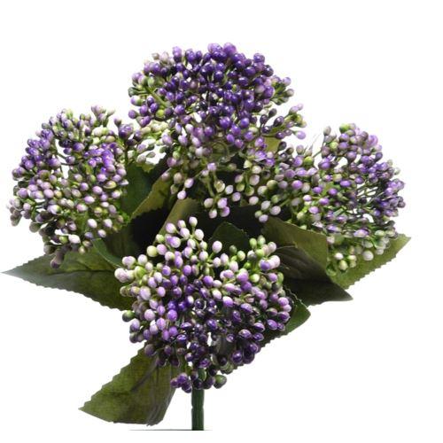 Bukiet drobnych kulek x5 28cm violet