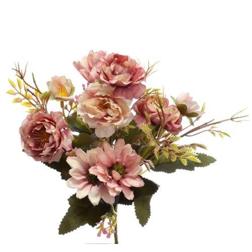 Bukiet drobnych mieszanych kwiatów 27cm lt. Pink