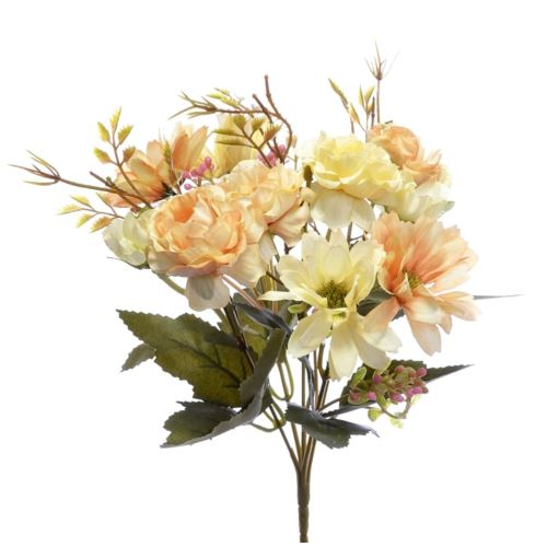 Bukiet drobnych mieszanych kwiatów 27cm lt peach