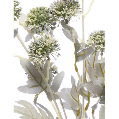 Gałązka z kwiatem czosnku mini allium 85cm white g
