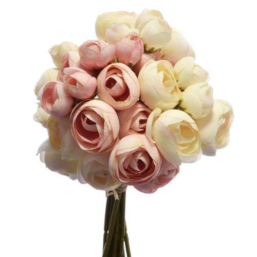 Bukiecik Pełnik 32cm Cream lt pink