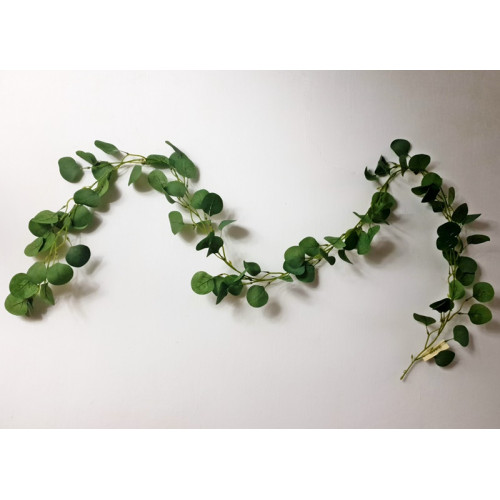 Girlanda z liści eukaliptusa 210cm powder green