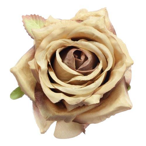 Róża głowa 10cm ly003 27l lt brown