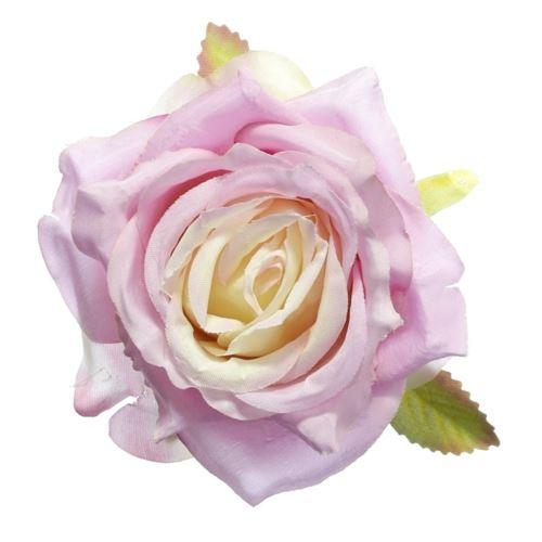 Róża głowa 10cm ly003 33l pink/peach
