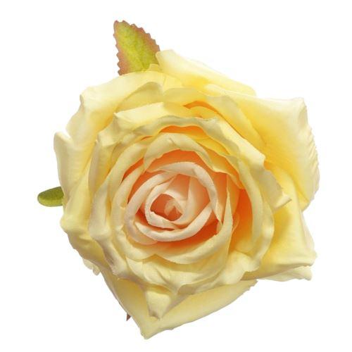 Róża głowa 10cm ly003 vanilla (lt pink)