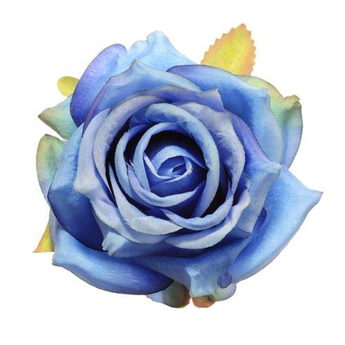 Róża głowa 10cm ly003 35 dk blue
