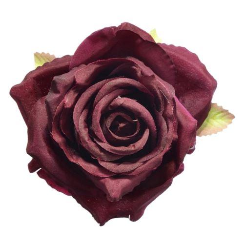 Róża głowa 10cm ly003 30l burgundy