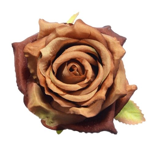 Róża głowa 10cm ly003 63 (brown)