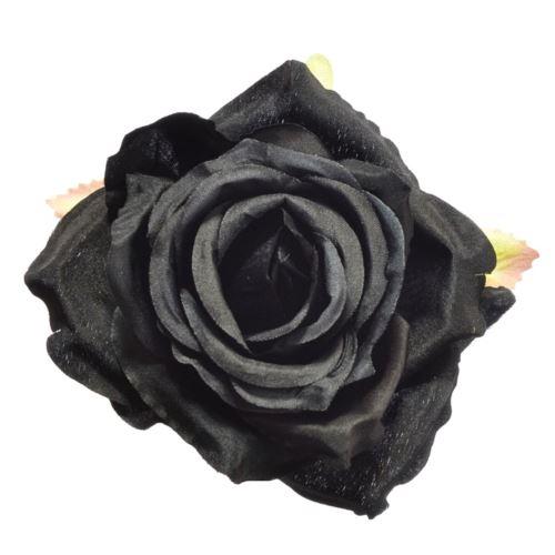 Róża głowa 10cm ly003 black