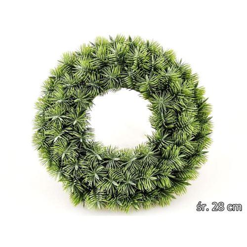 WIANEK OZDOBNY IGLASTY 28cm POWDER GREEN