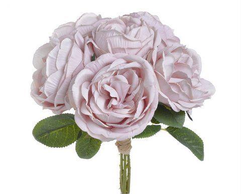 Bukiet róż x6 28cm vintage lt pink