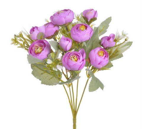 Bukiecik jaskier pełnik 30cm pink beauty