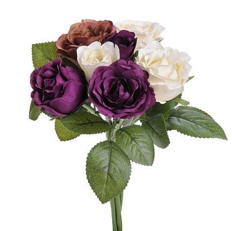 Bukiet róż mix x7 26cm