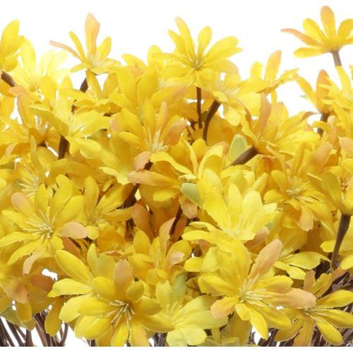 Kwitnąca gałązka cz043 56cm gold yellow