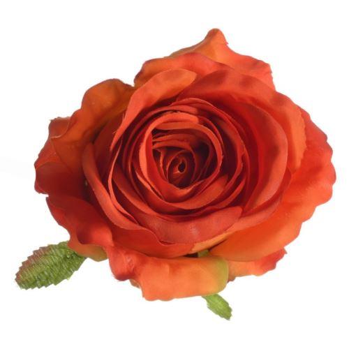 Róża główka rose head 9x8 cm sun388 brick