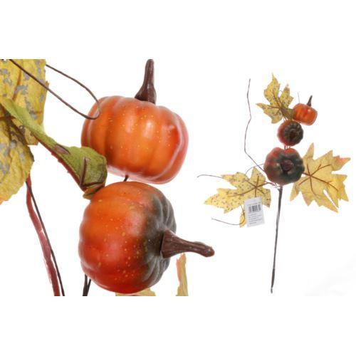 Gałązka jesienna z dyniami i dodatkami 37 cm