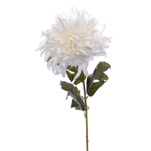 Chryzantema na łodydze 75cm white