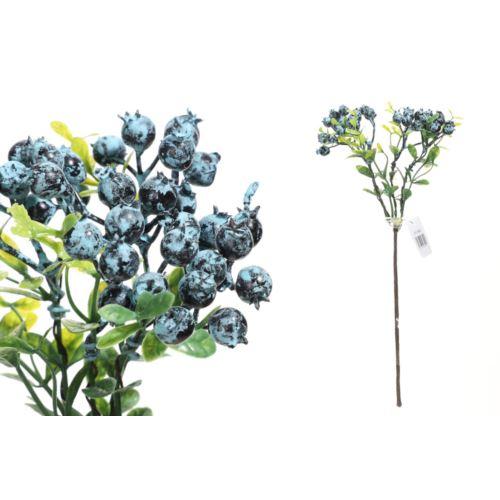 Gałązka z głogami 30cm blue
