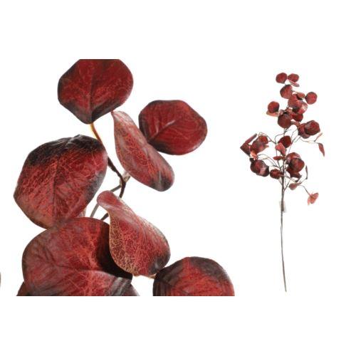 Gałązka jesienna eukaliptus 72cm burgundy