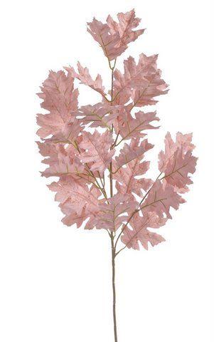 Gałązka liść dębu 85cm powder old pink