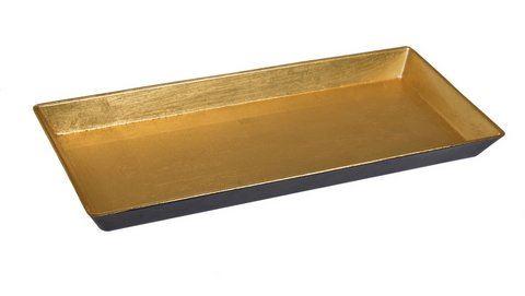 Patera 27x12cm gold