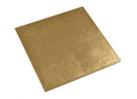 Patera kwadratowa 21cm 21cm gold
