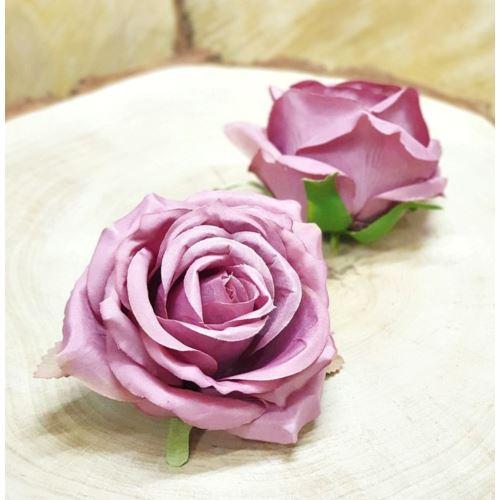 Róża głowa 10cm ly003 29l dirty dk pink