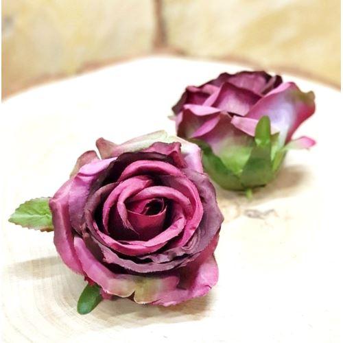 Róża głowa 10cm ly003 BEAUTY BURGUND GREEN RD0096