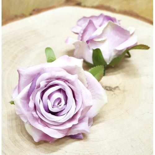 Róża głowa 10cm ly003 OLD LAVENDER GREEN RD0099