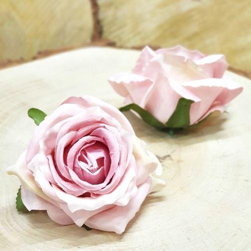 Róża głowa 10cm ly003 OLD LT PINK PINK RD0105