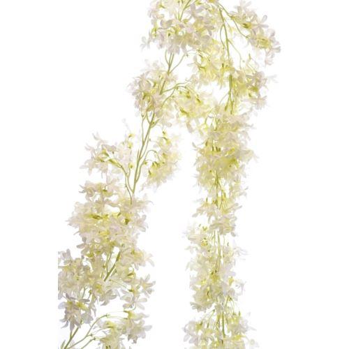 Girlanda kwiatowa drobny jaśmin 165cm white cream