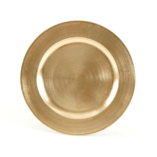 TALERZ PLASTIK 28cm GOLD