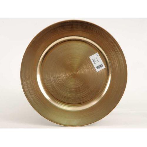TALERZ PLASTIK 33CM GOLD