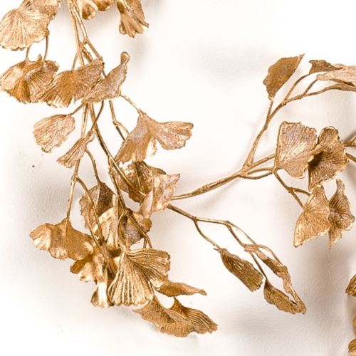 Girlanda Ginko leaf garland gold 180cm old gold