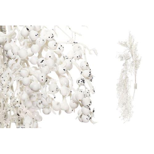 Gałązka zwis zimowa biała z brokatem 100cm white