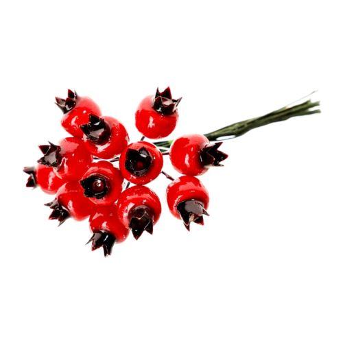 Pęczek 12 głogów 11cm red