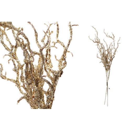 Pęczek brokatowych gałązek 22cm gold