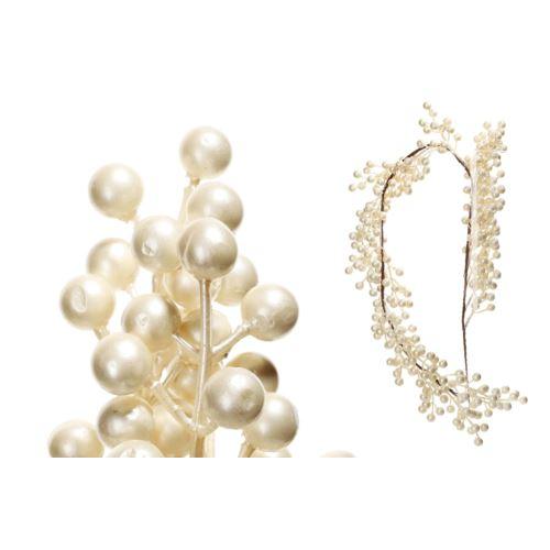 Girlanda z perłowymi kulkami 125cm pearl white