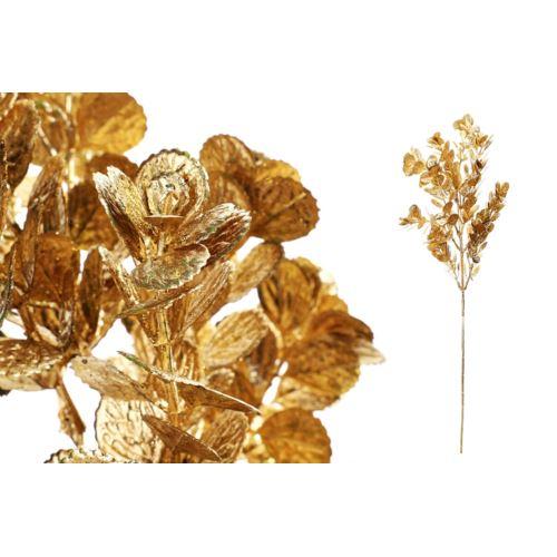 Gałązka świąteczna brokat 63cm gold